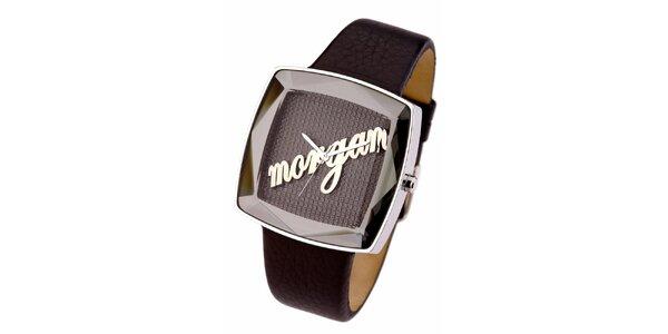 Dámské hnědé analogové hodinky Morgan De Toi