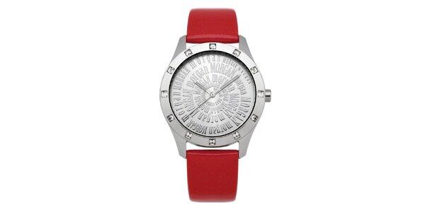Dámské červené hodinky s krystaly Morgan de Toi