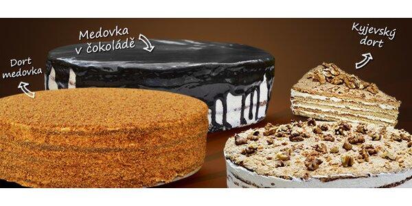 Tři lahodné dorty z medu a oříšků