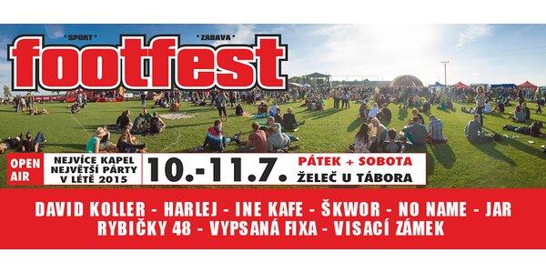 Open air hudební festival Footfest