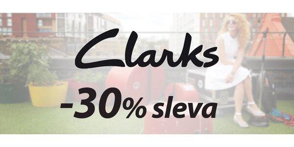 30% sleva na zboží z kamenné prodejny Clarks
