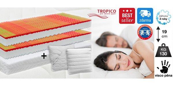 Matrace Tropico Visco Baron a 2 polštářky
