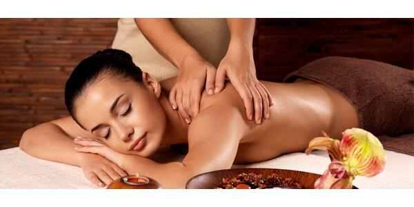 Relaxační masáž zad a šíje 60 minut