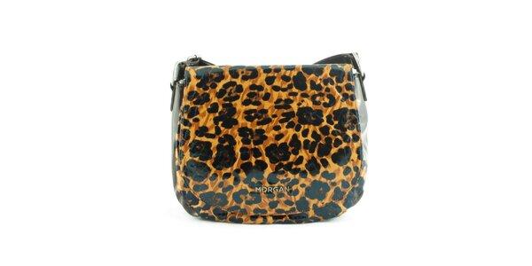 Dámská hnědá leopardí kabelka Morgan de Toi s klopou