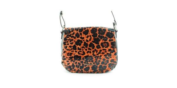 Dámská oranžová leopardí kabelka Morgan de Toi s klopou