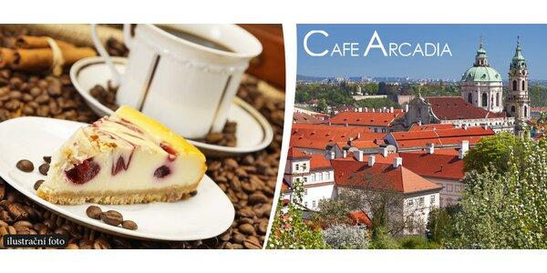 Dva dezerty a dvě kávy hned pod Pražským hradem