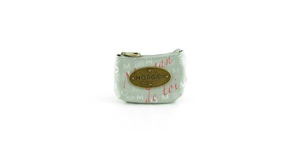 Dámská světle šedá peněženka Morgan de Toi s potiskem