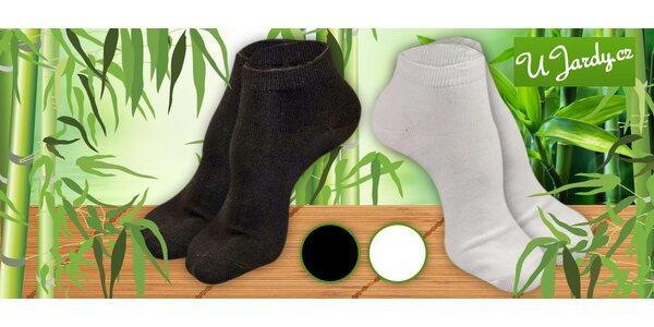 16 párů kotníčkových ponožek s bambusem