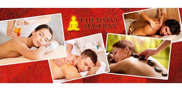 Odpočiňte si na masáži - na výběr 6 druhů