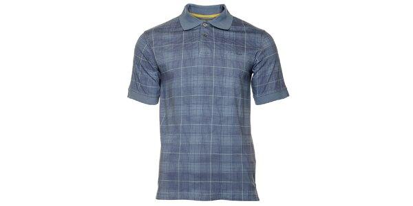 Pánské modré kostkované polo tričko Bushman