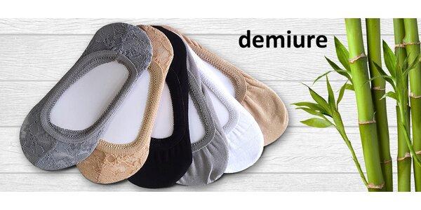 10 párů balerínkových ponožek s bambusovým vláknem