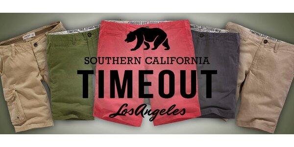 Jednobarevné pánské šortky Timeout