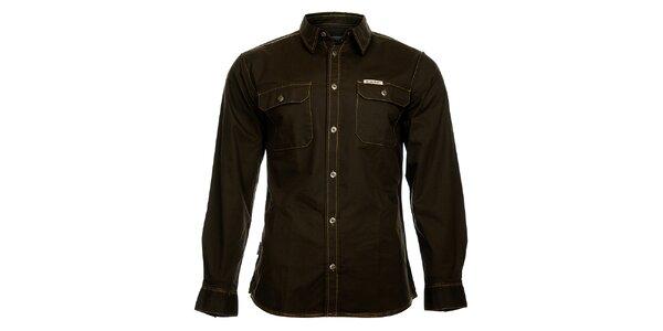 Pánská tmavě hnědá džínová košile Bushman