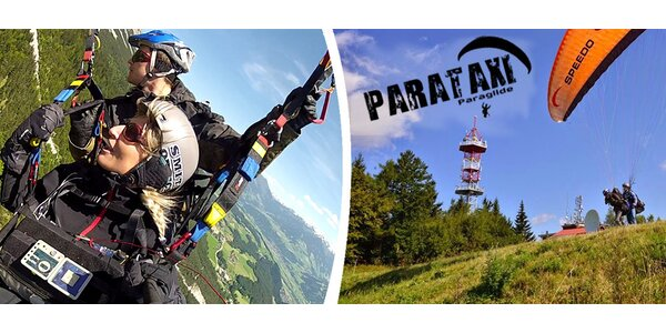 Tandem Paragliding se zkušeným pilotem na padákovém kluzáku