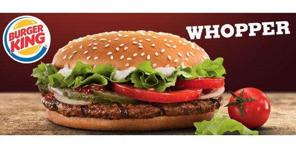 Výtečné WHOPPER® menu z Burger Kingu