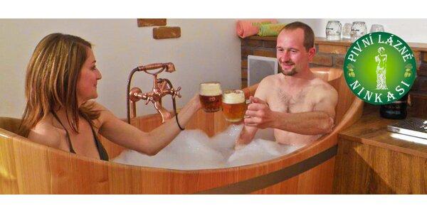60minutové pivní lázně pro dva