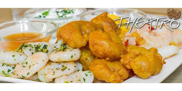 400 g chutných tygřích krevet pro dva v Theatro Cafe & Restaurant