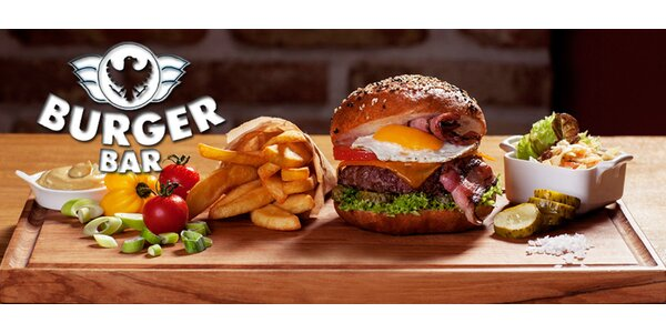 Sleva 40 % na výtečný burger v Burger Baru
