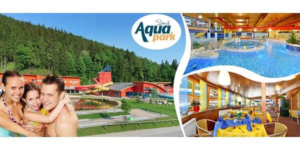 Tři dny v Aquaparku Špidlerův Mlýn pro rodinu či pár