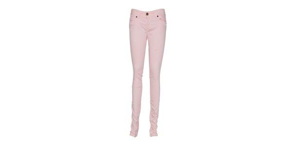 Dámské světle růžové kalhoty Lois