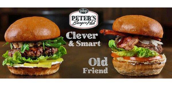 Hovězí burger s překvapením a 0,5l pivní speciál