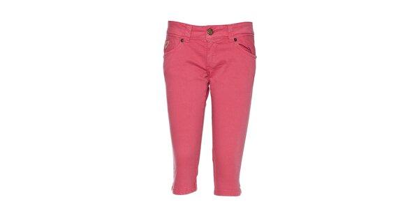 Dámské růžové 3/4 kalhoty Lois