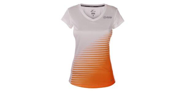 Dámské bílé tričko s krátkým rukávem Nike