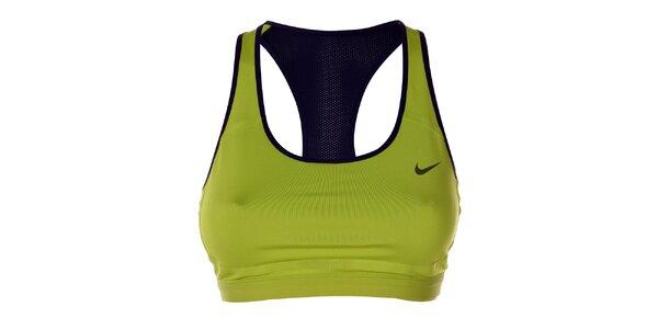 Dámská zeleno-černá sportovní podprsenka Nike