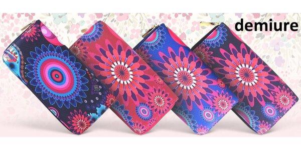 Pestrobarevná dámská peněženka na zip