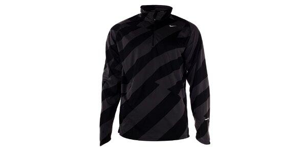 Pánská černo-šedé tričko s dlouhým rukávem Nike