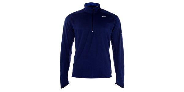Pánské modré tričko Nike s dlouhým rukávem