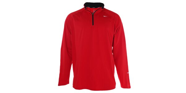 Pánské červené funkční tričko Nike s dlouhým rukávem