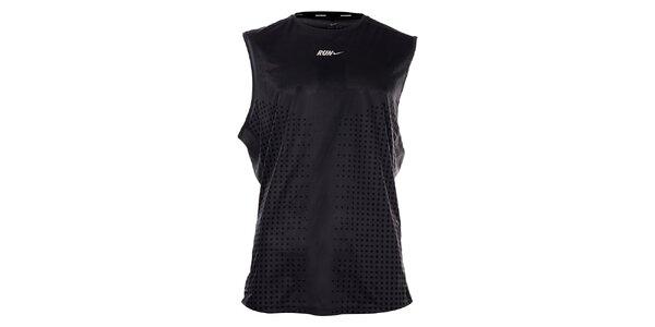 Pánské černé funkční tílko Nike s potiskem