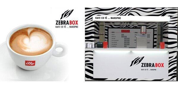 125 Kč za výborné kávy s sebou v hodnotě 350 Kč v kavárnách Zebra Box!