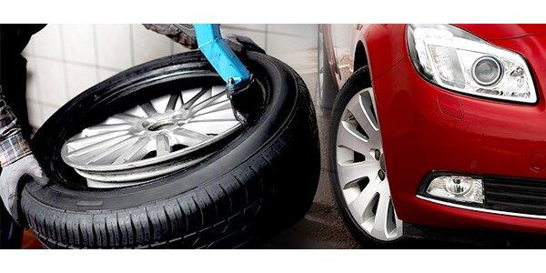 Přezutí pneumatik a servis a doplnění klimatizace