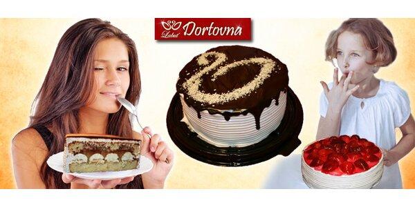 Lahodné dorty Labuť – Jahůdka, Čokoládová nebo Něžná