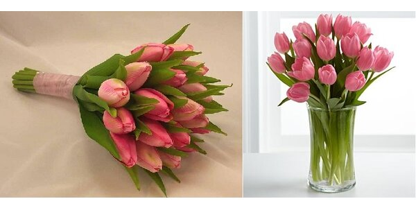 Kytice 18 krásných čerstvých tulipánů pro maminku i pro vaši milou