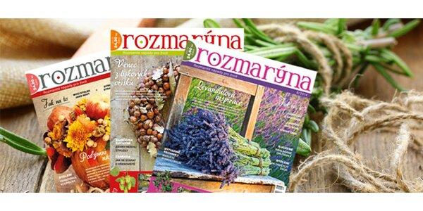 Roční předplatné časopisu ROZMARÝNA + bonusy