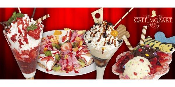 Zmrzlinové poháry v Café Mozart
