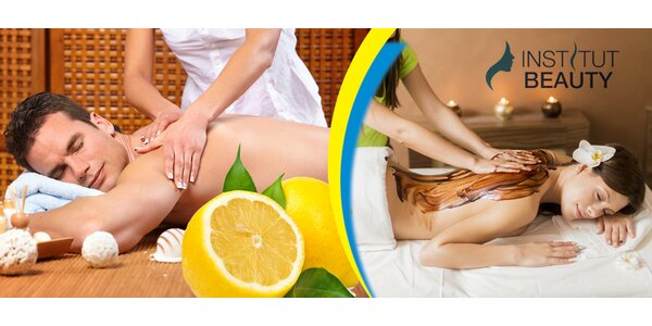 60 min relaxační mořské nebo citrusové masáže