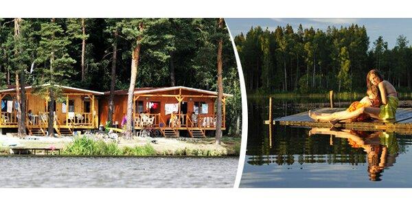 7 dní v chatě v jižních Čechách u rybníka
