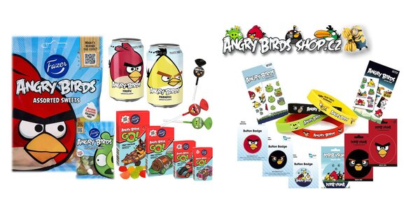 Angry birds dobroty a vtipné hračky