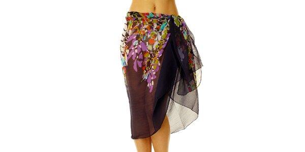 Dámské fialkový vzorovaný sarong Vacanze Italiane
