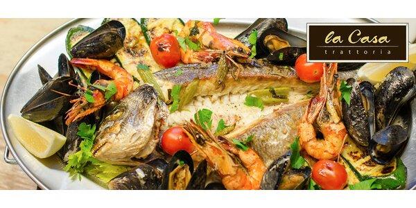 Večeře s mořskými plody pro dva v La Casa