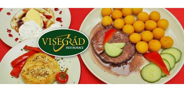 Lahodné maďarské menu pro dva včetně dezertu