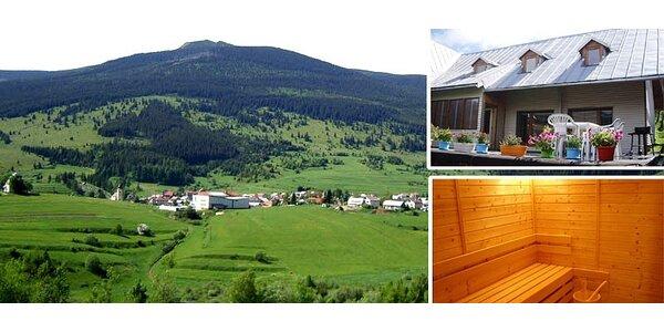 4 denní dovolená pro partu nebo rodiny v Nízkych Tatrách s wellnessem
