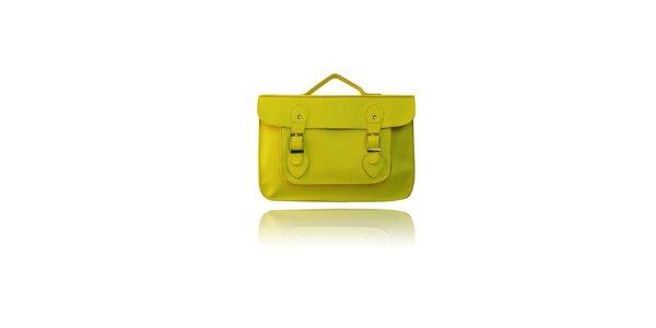 Dámská žlutá aktovka London Fashion