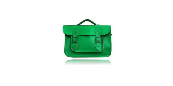Dámská zelená aktovka London Fashion