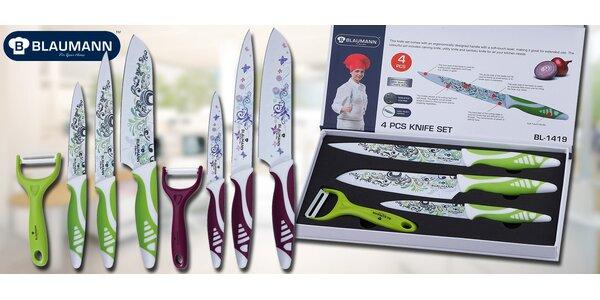 4dílná sada designových nožů a škrabky