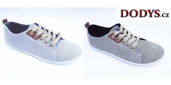 Dámské plátěné boty v námořním stylu